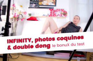 INFINITY, photos coquines avec un double dong