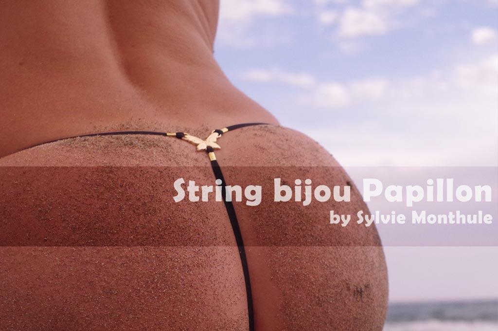 String bijou pénétrant, le papillon de jouissance