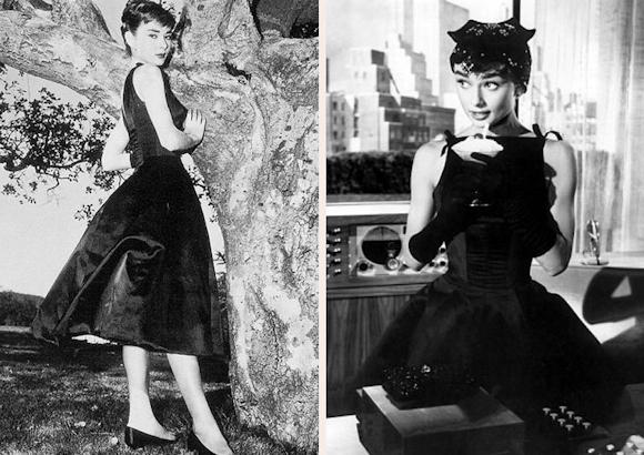 Audrey Hepburn robe noire