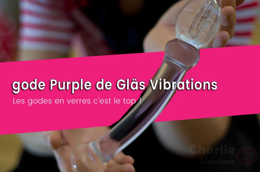Gode en verre Purple lover de Glass Vibrations