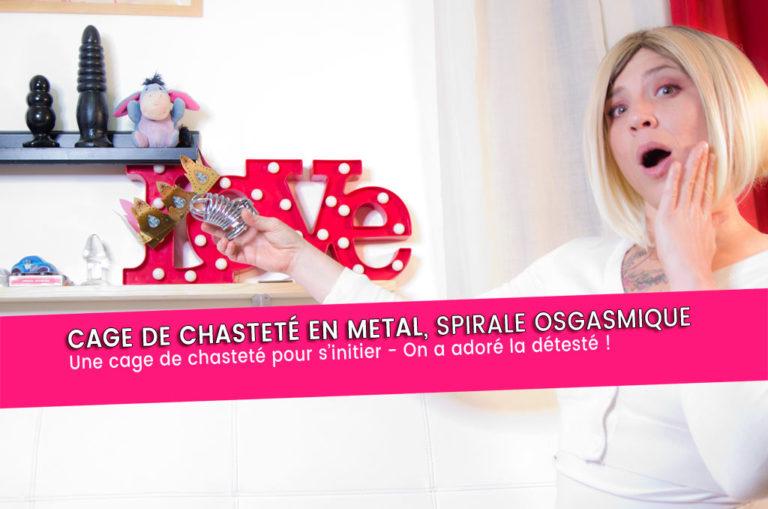 Cage de chasteté métal SPIRALE ORGASMIQUE – initiation 8/10