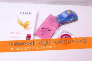 Préservatif GLYDE, une capote vegan au goût fraise 6+/10
