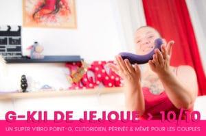 G-Kii de JeJoue le super sextoy vibrant pour TOUS même les couples ! 9+/10