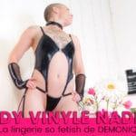 Nadine, le body vinyle qui fait aimer la lingerie Demoniq