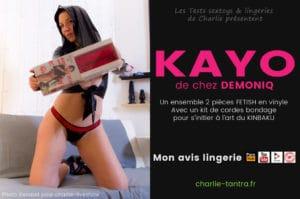 Read more about the article Essayage de l'ensemble fetish de Demoniq KAYO. Hot & Kinky