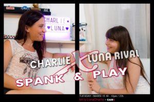 Luna Rival + Charlie show lesbien