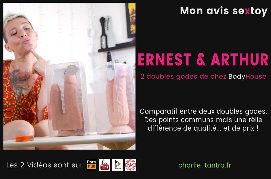 You are currently viewing ERNEST & ARTHUR, test des double godes réalistes à ventouse.